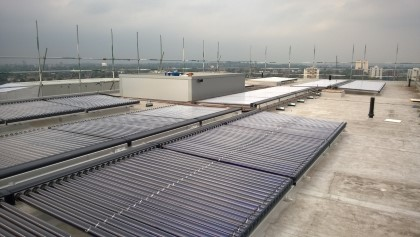 Large Scale Solar Thermal project in Chiswick London