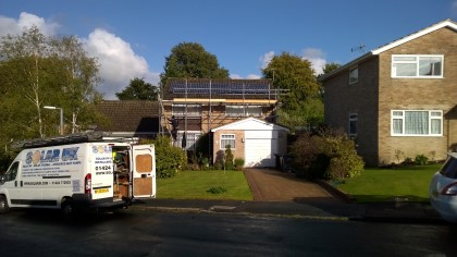 4KWP Domestic PV solar installation in east sussex