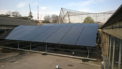 Solar PV combination with ASHP at London Zoo