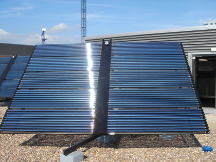 Large array of solar thermal collectors