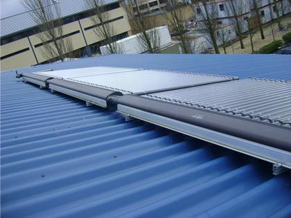Cambridge College solar water heating panels