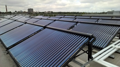 commercial large scale solar roof installation