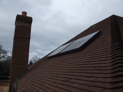 Solar Thermal Panels on Tiled Roof