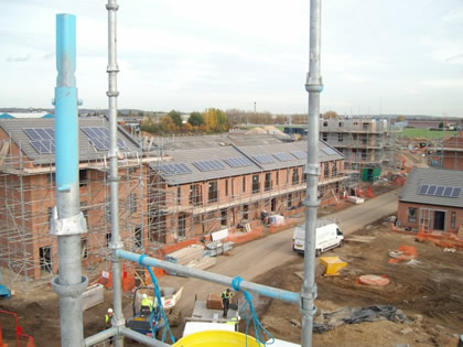Solar energy installed on new housing development