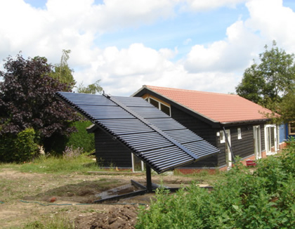 Solar Panel with Motorized Tracker Mounting